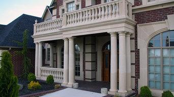 Round balustades front porch 2