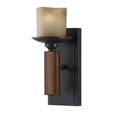 Feiss   Monte Carlo   1 Light Standard Bulb Wall Sconce, Antique Forged  Iron And