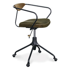 Nuevo Living   Akron Office Chair, Jin Green, Black   Office Chairs