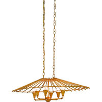 Teahouse Chandelier, Contemporary Gold Leaf