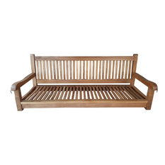 Teak Wood Elzas Double Porch Swing made from A-Grade Teak Wood
