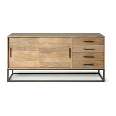 Ashton Industrial Wood and Metal Sideboard Buffet