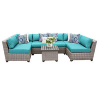 Florence 7 Piece Outdoor Wicker Patio Furniture Set 07c