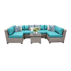 Florence 7 Piece Outdoor Wicker Patio Furniture Set 07c