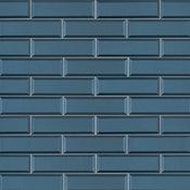 Tahiti Blue 2.5X8X8Mm Beveled Luxury Glass 2.5X8 Glass