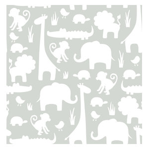 Brewster Its A Jungle In Here Peel And Stick Wallpaper Its A Jungle In Here Wall Tropical Kids Wall Decor By Buildcom