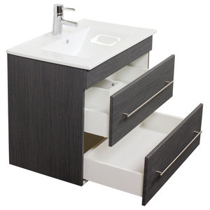 Emotion Casa Infinity 750 Bathroom Furniture, 80 cm, Grained Anthracite