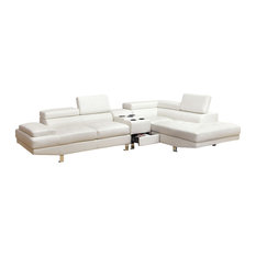 Furniture of America E-Commerce by Enitial Lab - Unique Contemporary White  Bonded Leather Match