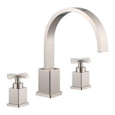 "Legion Furniture 8"" Widespread Faucet, Brushed Nickel"