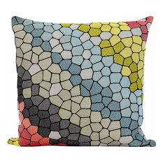 Cobblestone Feather Filled Decorative Throw Pillow Cushion