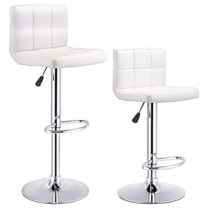 Pleasant Morrison Faux Leather Adjustable Bar Stools Set Of 2 Gmtry Best Dining Table And Chair Ideas Images Gmtryco