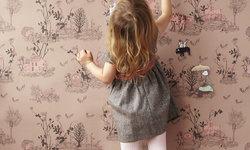 Magnetic Woodlands Wallpaper, Brown/Pink
