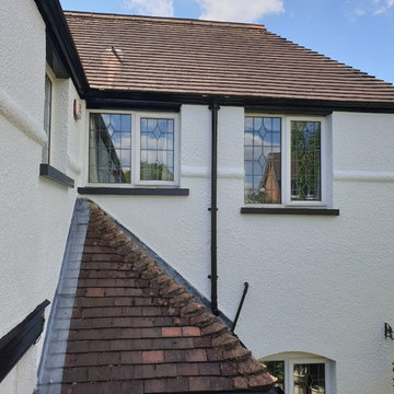 External selfcleaning painting & decorating to the pebble dash coating in Putney