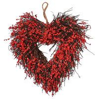"Heart Wreath, 11"""