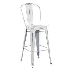 Flash Furniture Distressed White Barstool