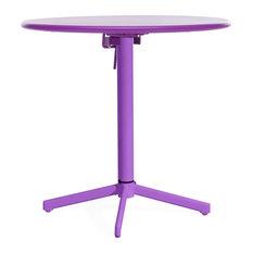 Zuo Modern Big Wave Round Folding Table Big Outdoor Wave Round Folding Table