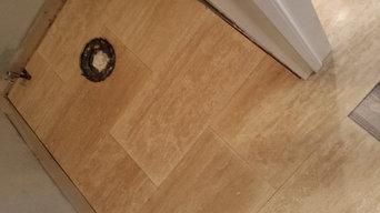 Travertine Bathroom Floor