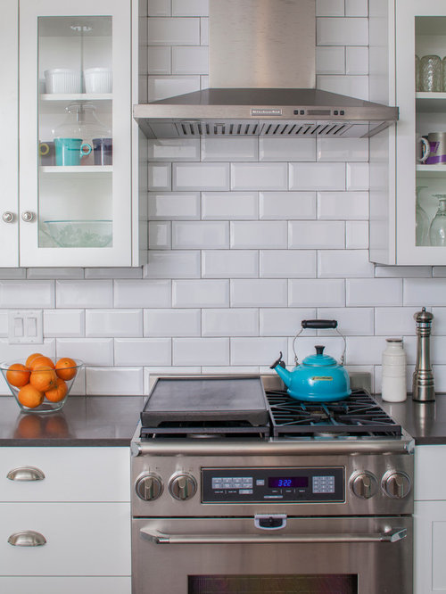 Houzz Backsplash White Kitchen