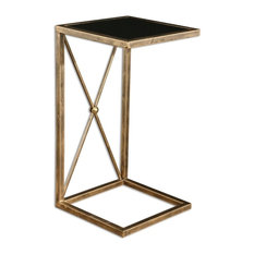 Uttermost   Open Gold C Side Table Minimalist   Side Tables And End Tables