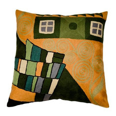 """Klimt Cushion Cover Fusion Hand Embroidered 18"""" x 18"""""""