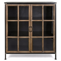 Lawrence Wood and Metal Cabinet, Black