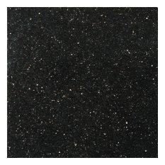 "Granite Galaxy Black 12""x12"" Granite Floor Tile, Set of 1"