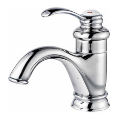 Bathroom Faucet Chrome Plated Ashley Single Hole 1 Handle