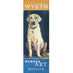 BetterWall - Jamie Wyeth Kleberg Street Banner Wall Art - From the Denver Art Museum, an authentic, limited edition street banner to display in your home as spectacular wall art. Jamie Wyeth's portrait of his loveable dog, Kleberg is featured on this large-scale authentic piece of art. Inspired by Petey from The Little Rascals, Jamie painted a black circle around the eye of his yellow lab, Kleberg, one day when he wandered up to the easel. Kleberg and his endearing circled eye, which was touched up with mustache dye throughout his life, was the subject for many studies and paintings.