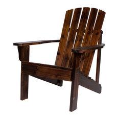 Shine Company 8616BB Vineyard Adirondack Chair, Burnt Brown