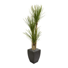 """Nearly Natural 63"""" Yucca Artificial Tree in Black Planter"""