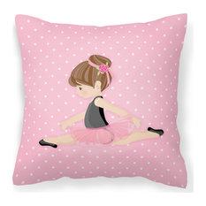 "Ballerina Brunette Jete Decorative Pillow, 14""x14"""
