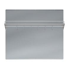"Ancona 36"" Stainless Steel Backsplash with Shelf and Rack"