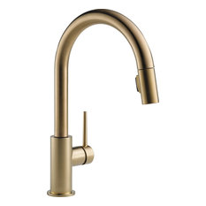 Delta Trinsic Single Handle Pull-Down Kitchen Faucet, Champagne Bronze