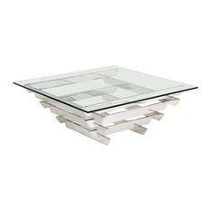 Glass Top Square Coffee Tables Houzz
