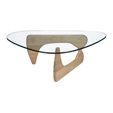 Edgemod Furniture   Poly And Bark Sculpture Coffee Table, Natural   Coffee  Tables