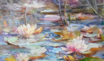 LES NYMPHEAS sur un étang