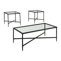 Augeron Table Set, Coffee Table and 2 End Tables, Black