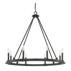 Capital Lighting Pearson, Eight Light Chandelier, Black Iron Finish