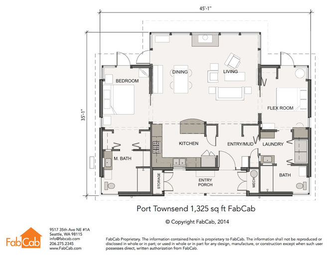 Contemporary Floor Plan Contemporary Floor Plan