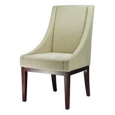 Sloping Arm Chair Cream Fabric