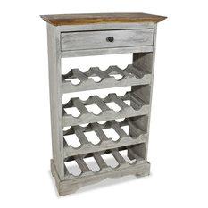 vidaXL Wine Rack 16 Bottles Drawer Solid Reclaimed Wood Holder Display Cabinet