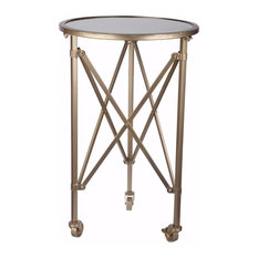 Benzara Inc Stunningly Trimmed Tennyson Side Table Tables And End