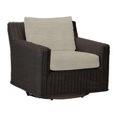 Summer Classics Rustic Speaker Swivel Lounge, Linen Dove Cushion