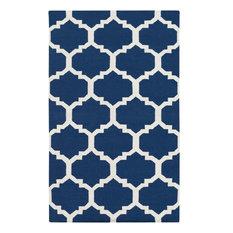 Artistic Weavers   Contemporary York Harlow 5u0027x8u0027 Rectangle Blue White Area  Rug
