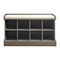 Kempton Shoe Bench, Grey
