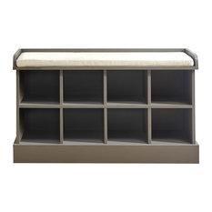 GFW - Kempton Shoe Bench, Grey - Shoe Storage