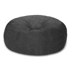 Huge Bean Bag, 8 ft. Chill Sack, Charcoal Micro Suede