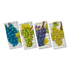 FountainArts - Wine Country Dinner Napkins, Set of 4, Sauvignon, Zinfandel, Cabernet - Napkins