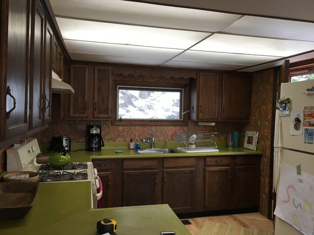 Cottage kitchen goes from dark and gloomy to light and bright - Kitchen and dining area design crossword ...