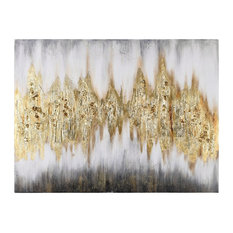 Gold Abstract Textured Metallic Hand Painted Wall Art by Martin Edwards